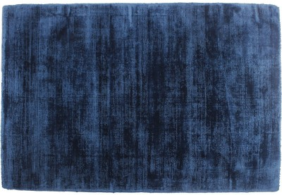 Indiesouq Dark Blue Viscose Area Rug