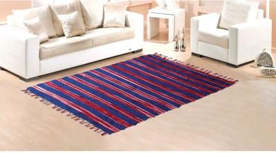 STATUS Multicolor Polyester Carpet(121 cm  X 182 cm)