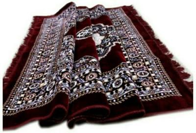 SHREE KHATU PRINTS Maroon Cotton Polyester Blend Carpet