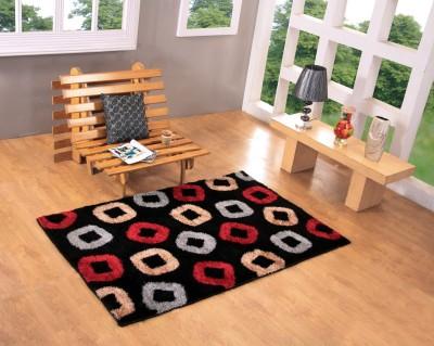 Excel Bazaar Black Polyester Carpet
