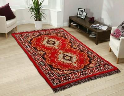 SHREE KHATU PRINTS Maroon Jute Carpet