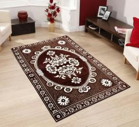 REDNHOT Brown Velvet Carpet(150 cm X 210 cm)