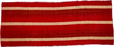 AayKayEnterprises Red Cotton Polyester Blend Runner(55 cm X 140 cm)
