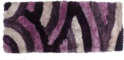 Indiesouq Purple Polyester Area Rug