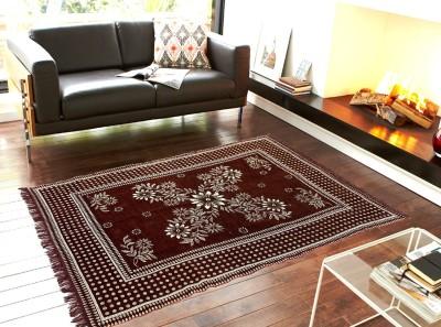 Home Castle Maroon Chenille Carpet