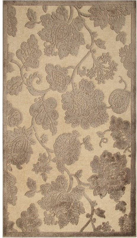 Riva Carpets Beige Cotton Area Rug(50 CM  X 83 CM)
