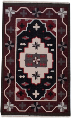 Carpet Overseas Red, Grey Cotton Area Rug