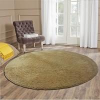 Loomkart Beige Polyester Carpet(130 cm  X 130 cm)