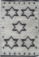 Die Designers Studio Black, White Cotton, Chenille Dhurrie