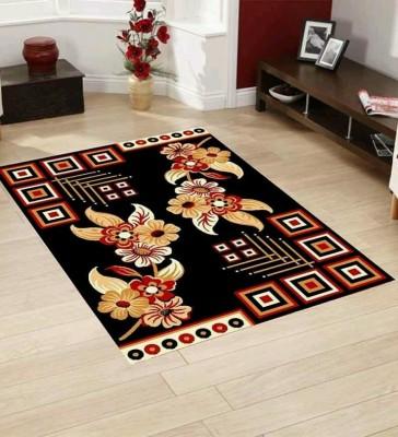SHREE KHATU PRINTS Black PVC Carpet