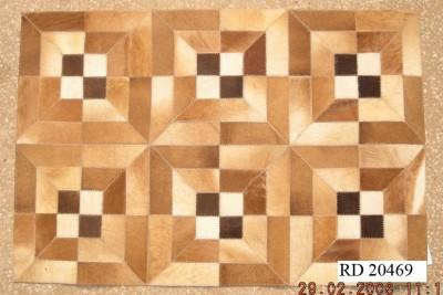 RACHNA DESIGNS Brown Geuine Leather Area Rug