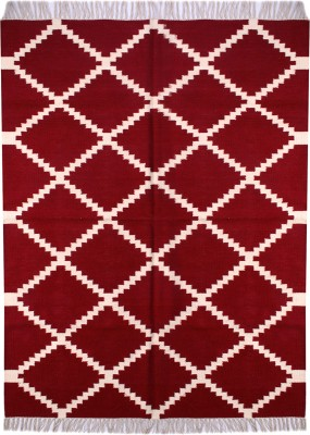 Carpet Overseas Red Cotton Area Rug