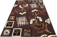 Naz Carpet Brown Polypropylene Carpet(180 cm  X 240 cm)