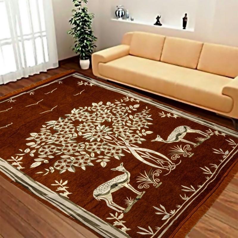 HOME the BEST Multicolor Velvet Carpet(150 cm X 210 cm)