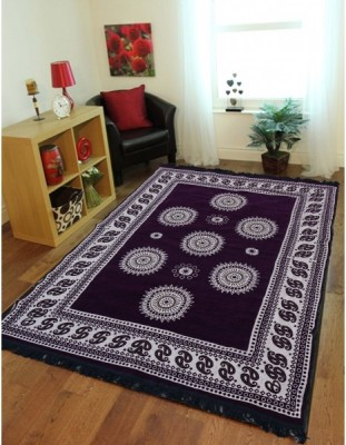 Gopal home furnishing Purple Chenille Carpet