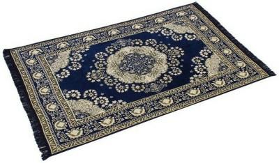 Gopal home furnishing Blue Chenille Carpet