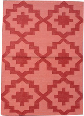 Carpet Overseas Pink, Red Cotton Area Rug