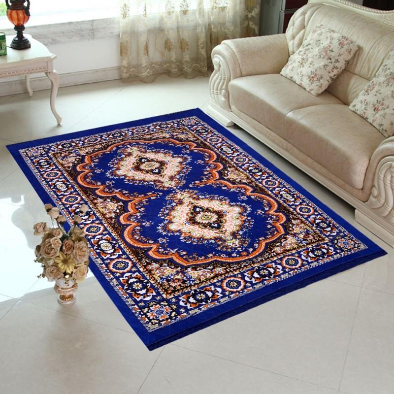 Home Elite Blue Jute Carpet(152 cm X 214 cm)