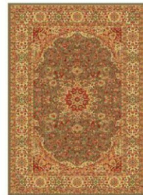 Apsara Gold, Green Silk Carpet