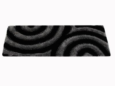 Majesty Black Polyester Area Rug