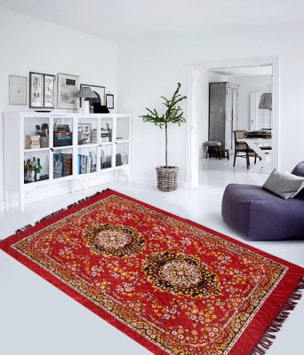 IWS Maroon Polyester Carpet(152 cm  X 214 cm)