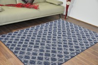 Saral Home Dark Blue Cotton Carpet(120 cm  X 180 cm)