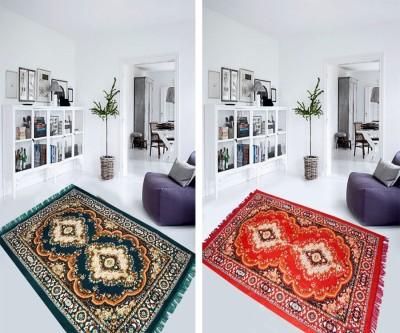 Aazeem Multicolor Polyester Carpet(152 cm X 215 cm)