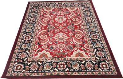 Farhan Carpet Red Polypropylene Carpet