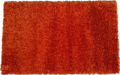 Amit Carpet Red, Maroon, Orange Polyester Carpet
