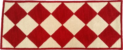 Amit Carpet Red, Maroon, Gold, Yellow Wool Runner