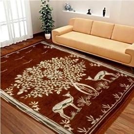 Home Best Multicolor Velvet, Chenille Carpet(150 cm X 210 cm)
