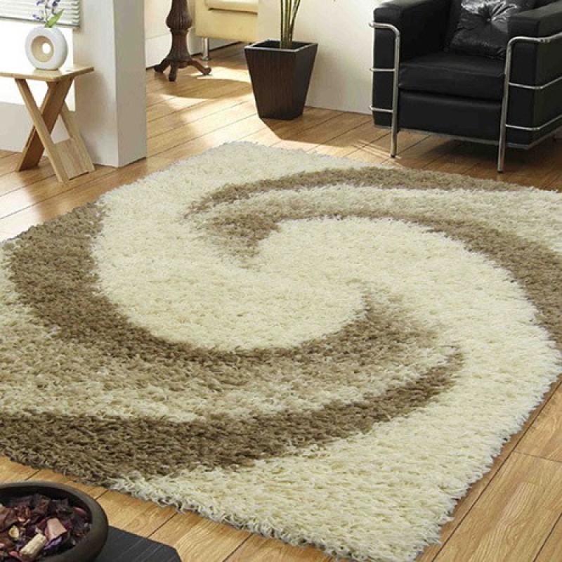 Presto Beige Polyester Carpet(90 cm  X 150 cm)