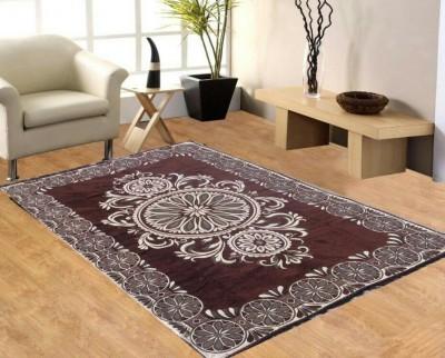 Gopal home furnishing Brown Chenille Carpet