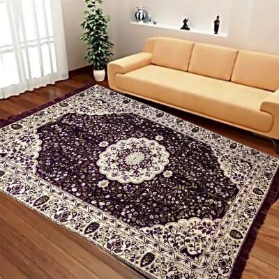 ABhomedecor Multicolor Chenille Carpet(135 cm X 215 cm)