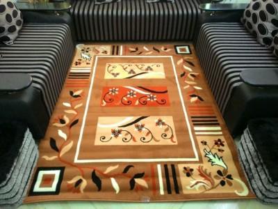 SHREE KHATU PRINTS Beige Polypropylene Carpet