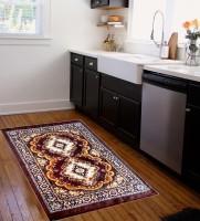 Sunlite Enterprises Multicolor Velvet Carpet(152 cm  X 213 cm)