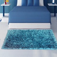 P.S Decor Blue Polyester Area Rug(60 cm  X 98 cm)