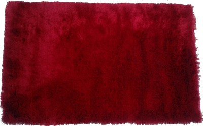 Amit Carpet Maroon, Red Polyester Carpet