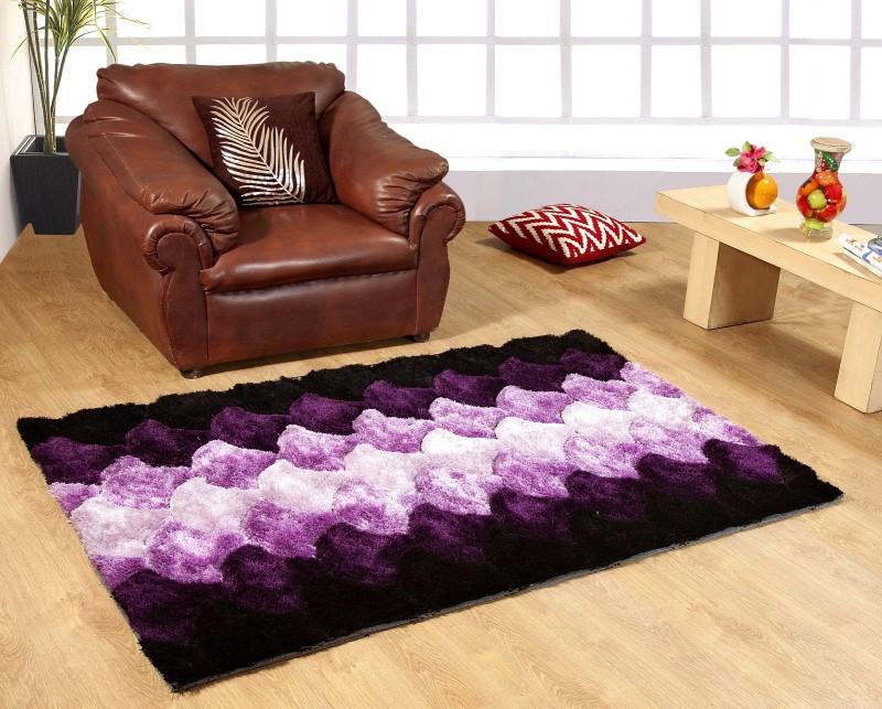Excel Bazaar Purple Polyester Carpet(120 cm  X 180 cm)