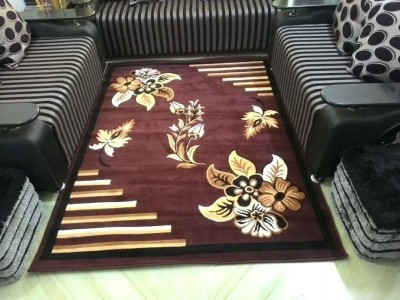 SHREE KHATU PRINTS Brown Polypropylene Carpet