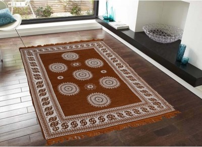 Gopal home furnishing Gold Chenille Carpet