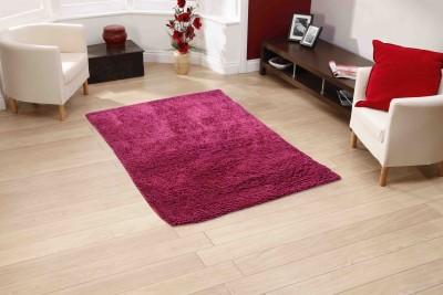 Sawariya Decor Pink Polyester Carpet