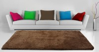 Loomkart Brown Polyester Carpet(92 cm  X 152 cm)