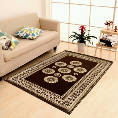 Uma Brown Velvet Carpet(150 cm  X 210 cm) at flipkart