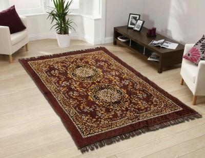 SHREE KHATU PRINTS Brown Jute Carpet