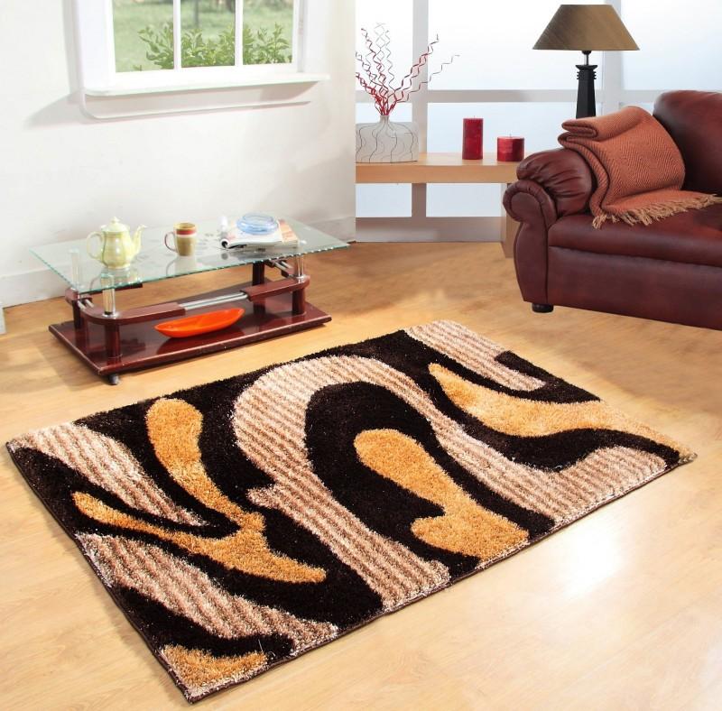 Excel Bazaar Multicolor Polyester Carpet(120 cm  X 180 cm)