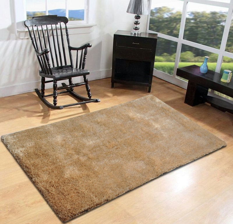 FURNISHINGLAND Beige Polyester Carpet(90 cm  X 150 cm)