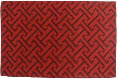 Indiesouq Red Jute, Cotton Area Rug