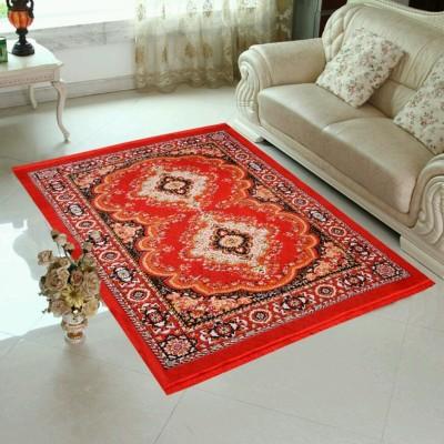 SHREE KHATU PRINTS Red Jute Carpet