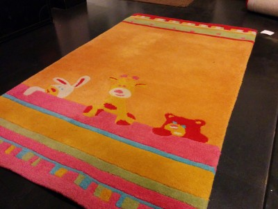 Carpet Couture Orange, Yellow, Red Wool Area Rug